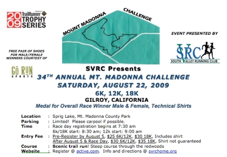 Mt Madonna Challenge