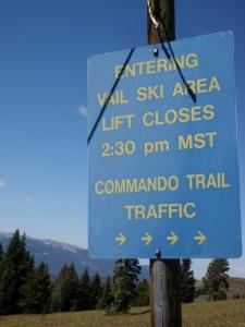 Vail Ski Sign